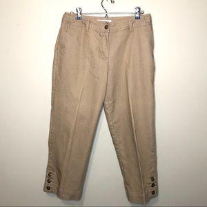 Versona Khaki Beige Capri pants Pants Size 6